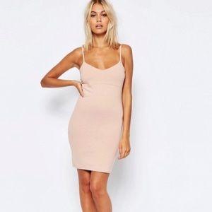 🌟NWT! ASOS Blush Pink Strappy Bodycon Mini Dress